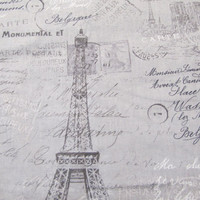 Gray fabric that looks like a Paris postcard, Projects, Accent Pillows, Home Decor, Home Fashion