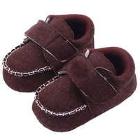 Cozy Toddler Baby Linen Crib Shoes Kid Boy Girl Non-Slip Loafers Shoes 0-12M PY5