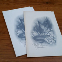 Vintage Unused Thanks for Your Sympathy Funeral Cards Set of 22