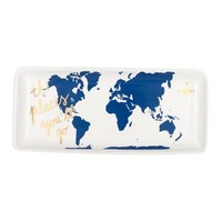 The Places You'll Go World Map Trinket Tray