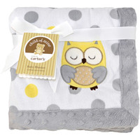 Walmart: Child of Mine by Carter's Treetop Friends 2-Ply Embroidered Print Valboa Blanket, Girl