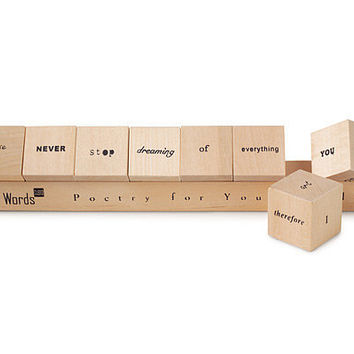 WORDS CUBED | Poetry For Your Table, Wooden Blocks | UncommonGoods