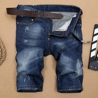 Jeans Summer Pants With Pocket Patchwork Straight Jeans [10366808707]