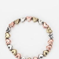 Urban Outfitters - Metal Hearts Stretch Bracelet