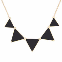 High Quality Hot Black geometrical Triangle Necklace Fashion choker necklace Jewelry for women vintage accessories Free shipping