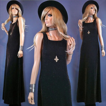 out of the shadows vintage 90s dress 90s goth sheath dress maxi gothic dress 90s grunge womens goth clothing 1990s 90s clothing witch dress