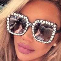Imitation Gucci Oversize Square Crystal Sunglasses ***MORE OPTIONS***