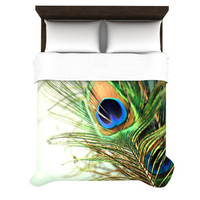 KESS InHouse Peacock Feather Duvet Cover Collection
