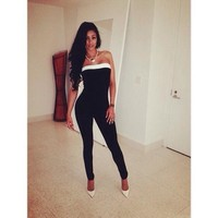 Women's Fashion Wrap Shaped Slim Sexy Jumpsuit [6032473857]