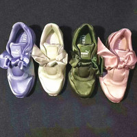 """ PUMA"" Piao Ma Lei Hai Na Bows Green/Pink  Running Shoes Shoes"