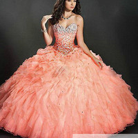 New Style Formal Prom Quinceanera Party Ball Gown Wedding Dresses Size 2-22