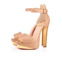 Tuctopen 140 Nude/Gold Leather - Women Shoes - Christian Louboutin