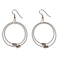 I liked this design on #Fab. Bass String Circle Earrings I
