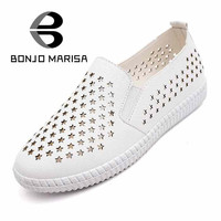 2016 New Arrival Chic Star Cut Outs Flat Elastic Band Solid Plain Women's Loafers Shoes Fashion Round Toe Less Platform Flats