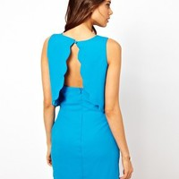 Rare Scallop Shift Dress with Open Back