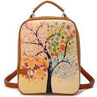 Tree of Four Seasons Backpack-j WEE521