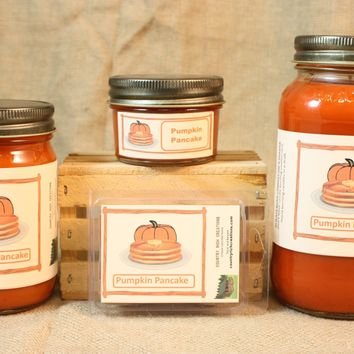 Pumpkin Pancakes Scented Candle, Pumpkin Pancakes Scented Wax Tarts, 26 oz, 12 oz, 4 oz Jar Candles or 3.5 Clam Shell Wax Melts