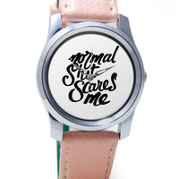 Normal Shit Scares Me Wrist Watch