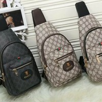 """Gucci"" Retro Fashion GG Letter Logo Single Shoulder Messenger Bag Metal Chain Single Shoulder  Women Small Bag"
