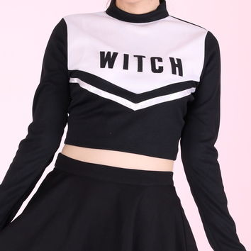 Glitters For Dinner — Made To order - Witch Cheerleading Long Sleeved Top