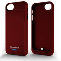 iPhone 5S Battery Case, Lenmar Meridian 2300 mAh MFI Approved [Slim] [Extended Battery Charger] [100% Additional Battery Life], Red