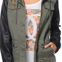 Empyre Quincy Olive & Black Military Jacket