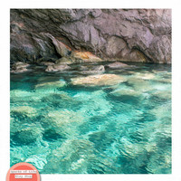 Printable photography wall art Greece photography, aqua wall decor, water photography ocean photography, square digital download photography