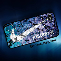 Nike Just Do It on Crystal Design Case , Nike Case , Just do it Case , Crystal Case , Luxury Case : Iphone 4/4s case Iphone 5 case Galaxy S3