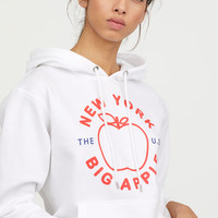 Printed Hooded Sweatshirt - White/Big Apple - Ladies | H&M US