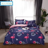 BEST.WENSD 2018 Full Kid edredom flamingos bedding sets High quality luxury bed sets -king bed covers and comforters bedspread