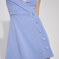 Silence + Noise Button-Down Surplice Mini Dress | Urban Outfitters