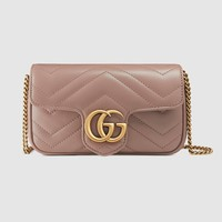 Gucci GG Marmont matelassé leather super mini bag