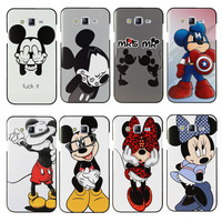 Lovely Mickey & Minnie Hard Case Cover For Samsung Galaxy S3 S4 S5 Mini S6 S7 Edge Note 2 3 4 5 A3 A5 A7  J1 J5 J7