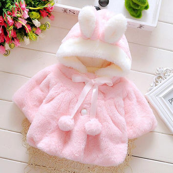 4-24M 2017 Winter Coat Clothes Warm Clothing Baby Girl Jacket warm Cute Toddler Tops Brand Outdoor Outerwear Hooded Wear