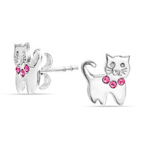 Bling Jewelry Meow Wow Kitty Studs