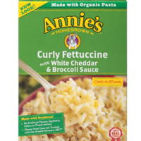 Organic Curly Fettuccine with White Cheddar and Broccoli Sauce - 7.25 oz each