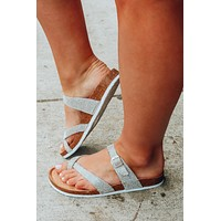 Shine On Me Sandals: Silver