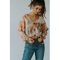Tie Dye Crop Sweater