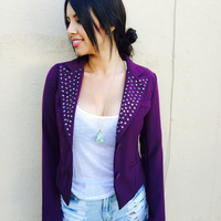 Purple Studded Blazer