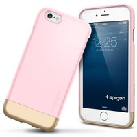 iPhone 6 Case, Spigen® [Style Armor] Safe Slide [Sherbet Pink] SOFT-Interior Scratch Protection with Dual Layer Trendy Stylish Color Hard Case for iPhone 6 (2014) - Sherbet Pink (SGP11044)