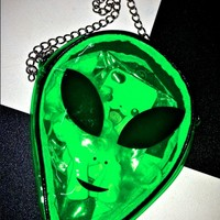 SWEET LORD O'MIGHTY! ALIEN SLING IN SEE THROUGH GREEN