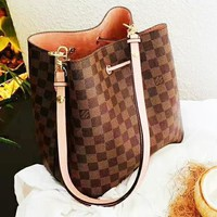 Louis Vuitton LV Trending Women Shopping Bag Leather Handbag Satchel Shoulder Bag