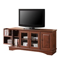 "52"" Brown Wood TV Stand Console"