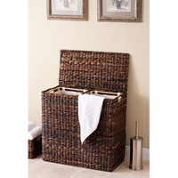 BirdRock Home Oversized Divided Hamper with Liner & Reviews | Wayfair