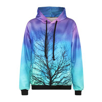Aqua Woods  3D Graphic Hoodie- Free Shipping
