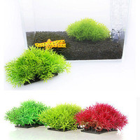 Aquarium Plastic Grass Water Plants Landscaping Ornament Fish Tank Decoration 3C
