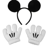 elope Disney's Mickey Mouse Ears & Gloves Set
