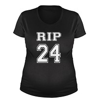 RIP Rest In Peace 24 Maternity Pregnancy Scoop Neck T-Shirt
