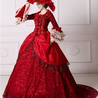 Romantic Renaissance Victorian Dresses Cosplay Costumes Ball Gowns Larger Sizes