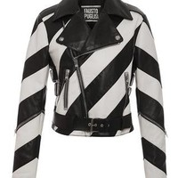 Striped Leather Jacket